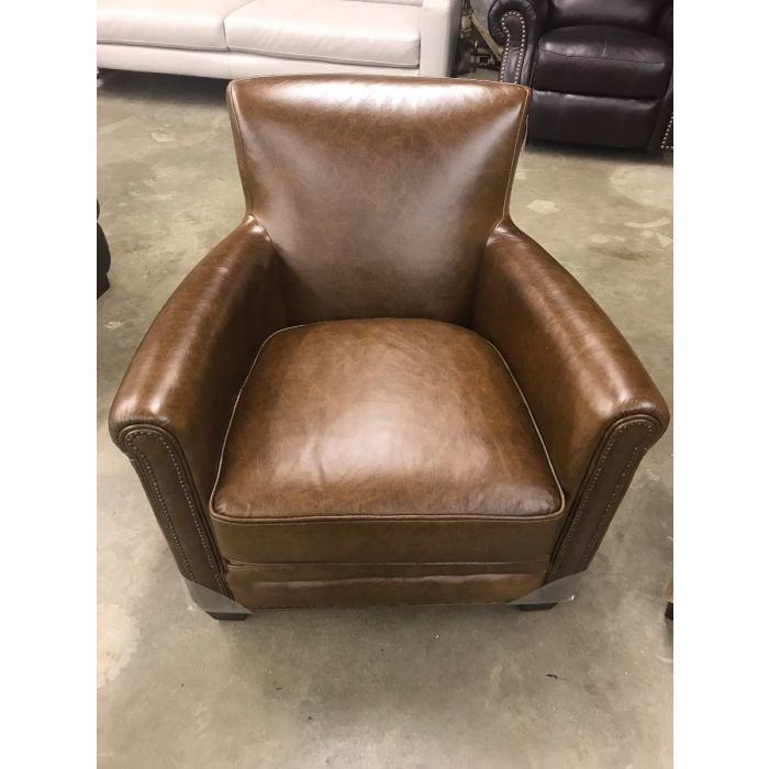 leather chair ottoman chairs and ottomans for sale norwells norwell nailhead trim furniture now