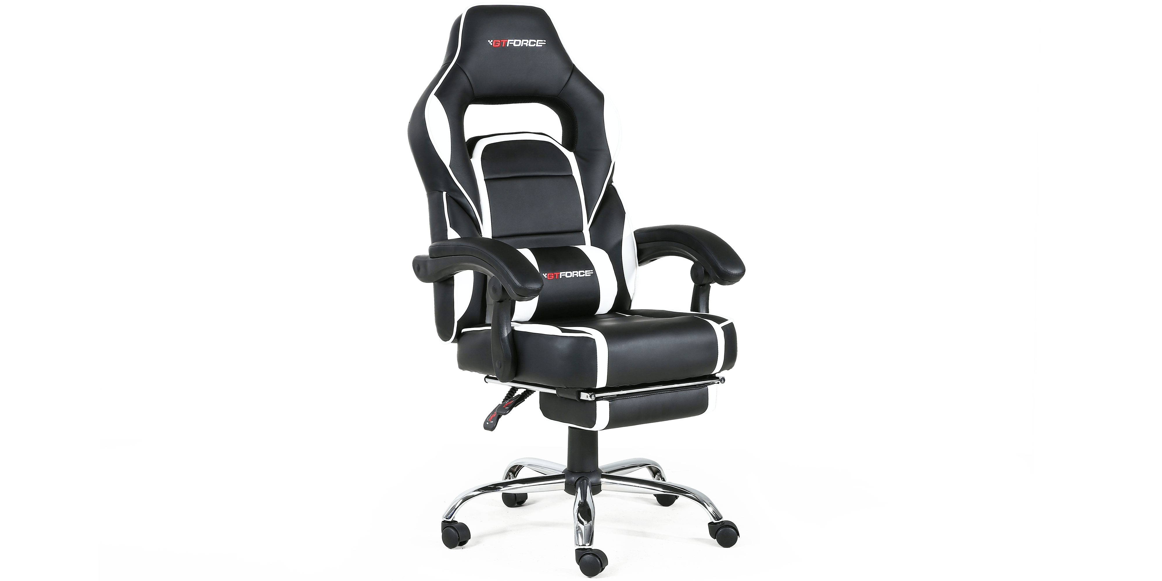 White Gaming Chair Pace Gaming Chair With Recline And Footrest In Black White