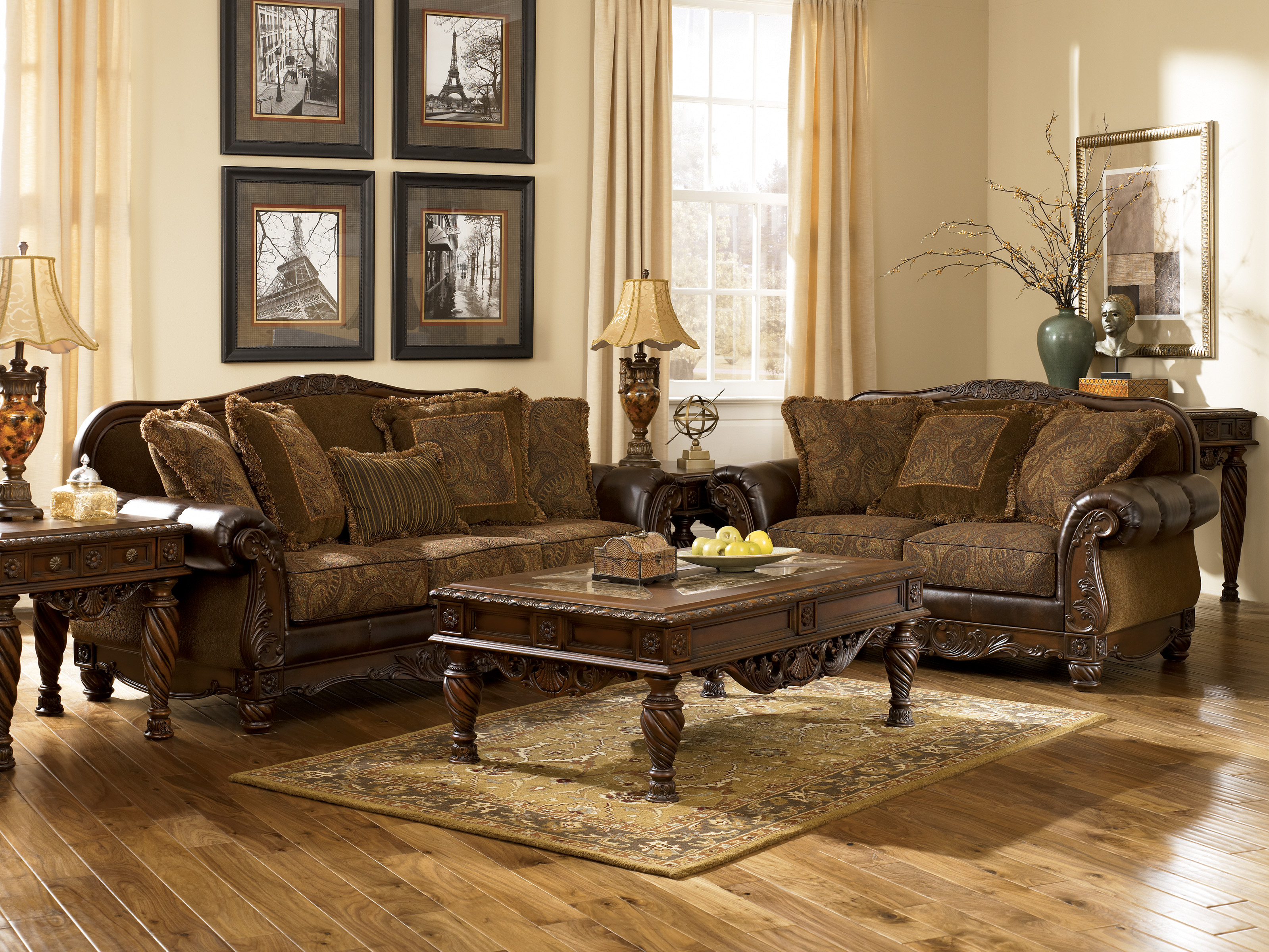 Ashley Furniture Fresco 63100 DuraBlend Antique Living