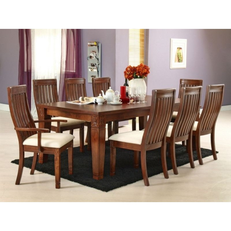 Lavender 8 Seater Dining Table  9 Piece Dining Table Set