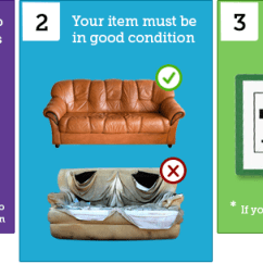 Donate Sofa To Charity Dwell Corner Bed Furniture Items South Shropshire Scheme How Donating Works At The