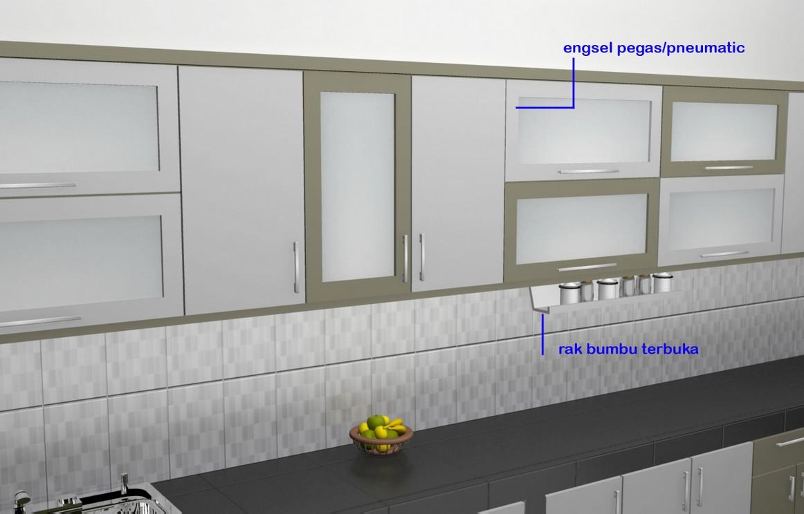 Kitchen Set Minimalis Pintu Kaca Engsel Hidrolis Kitchen