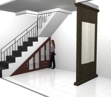 desain lemari bawah tangga terbaru