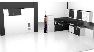 kitchen set 2 warna monokrom hitam putih furniture semarang (12)