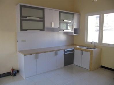 kitchen set bentuk l minimalis warna putih (1)