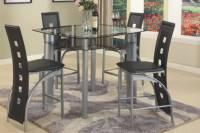 Black Counter Height Dining Table Set - Table Ideas