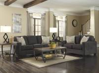 Ashley Alena Charcoal Sofa and Loveseat | Living Room Sets