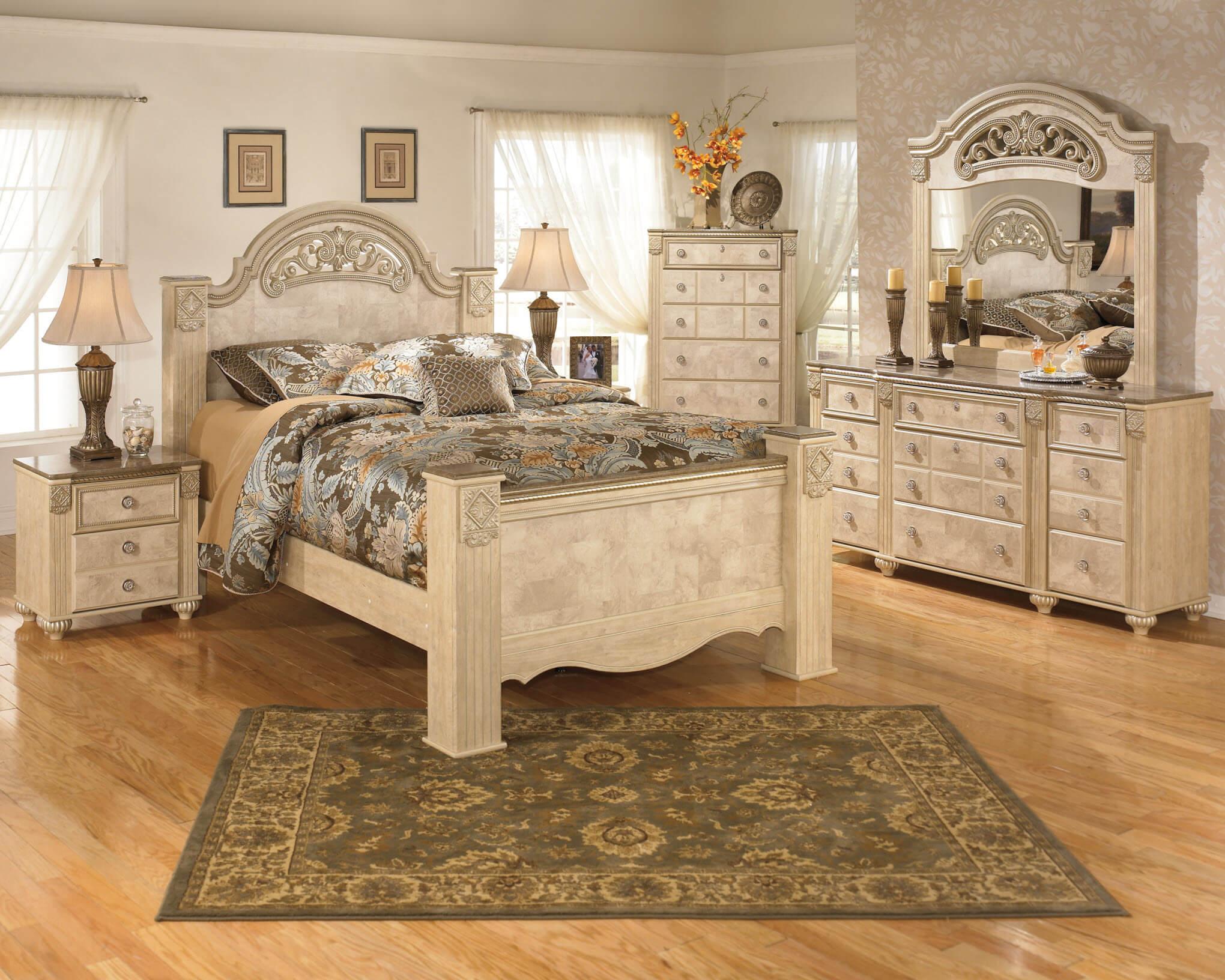 Ashley Saveaha Old World Bedroom Set  Bedroom Furniture Sets