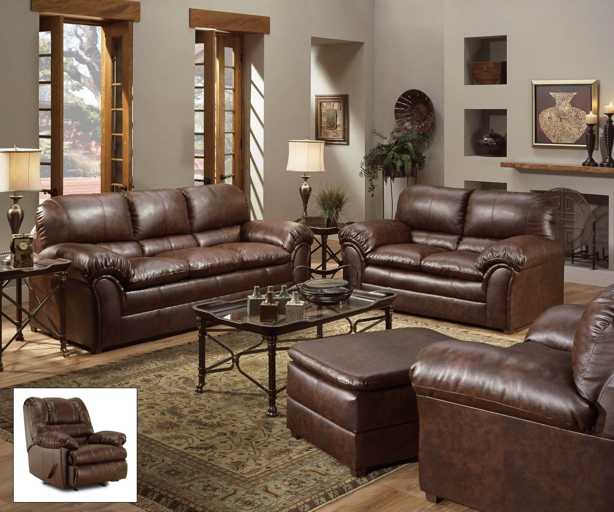 motion sofa set wooden under 10000 geneva mahogany and loveseat | living room sets