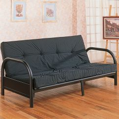 Sofa Frame Coffee Table Proportion Black Metal Futon Bed Coaster Furniture 300159