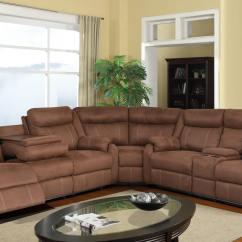 Corey Chocolate Brown Sectional Sofa Alabama Reclining Sets