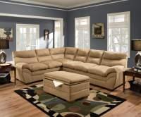 Simmon Luna Latte Sectional | Sectional Sofa Sets