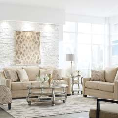 Sofa Tables For Living Room Donation Value Mauricio Linen Contemporary And Loveseat | ...