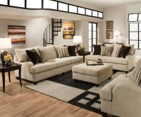 Simmons Trinidad Taupe Living Room Set | Fabric Living ...
