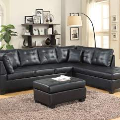 Entertainment Sofa Sets A Set Black Leather Like Sectional