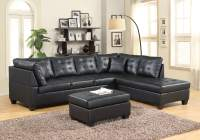 Black Leather Like Sectiona | Sectional Sofa Sets