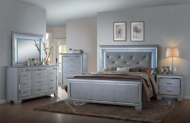 Lillian LED Bedroom set by Crown Mark