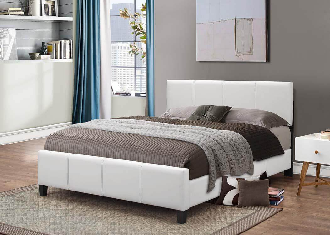 White Platform Style Bed  Kids Beds