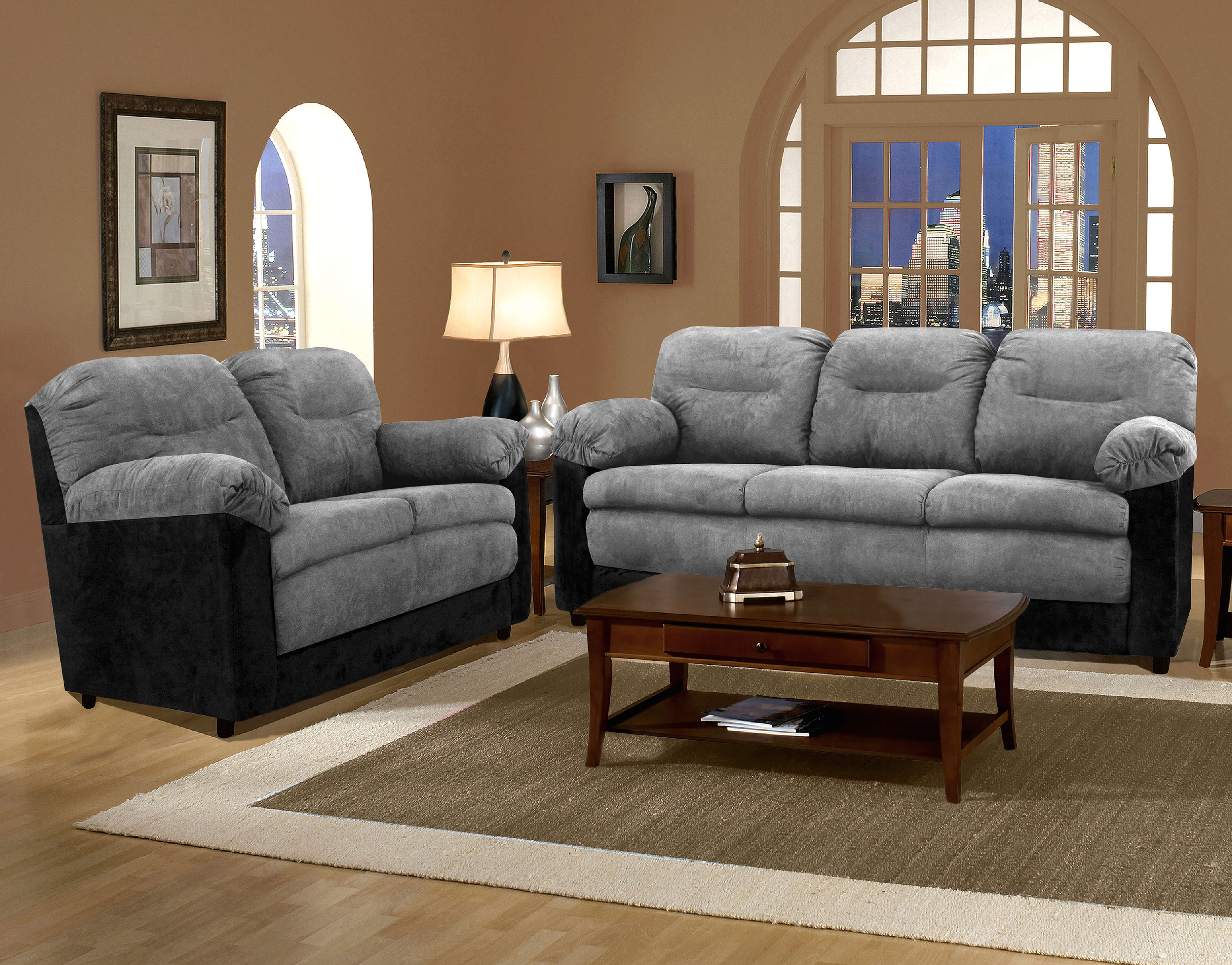 living room sofa and loveseat pune olx bulldozer graphite black sets
