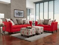 Stix Red Sofa and Loveseat | Fabric Living Room