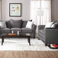 Motion Sofa Set Grand Tour Leather Bing Ash And Loveseat | Fabric Living Room Sets