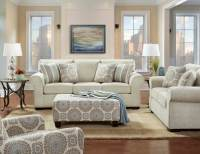 Charisma Linen Sofa and Loveseat