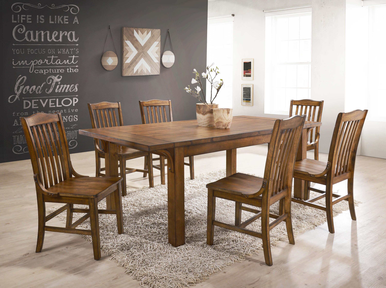 7 Pc Lucille Oak Dining Room Set Urban Furniture Outlet