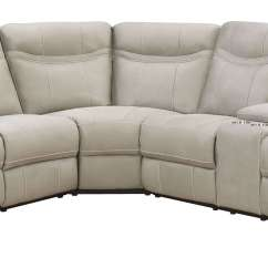 Sofa Stone St Kitts Leather Sectional With Pull Out Bed Boardwalk Wedge Stkittsvilla