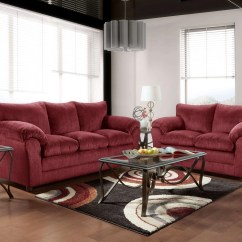 Leather Sofa Brown Dfs Bed Less Than 300 Burgundy 2 Pc Set Le Jaloux Furniture ...