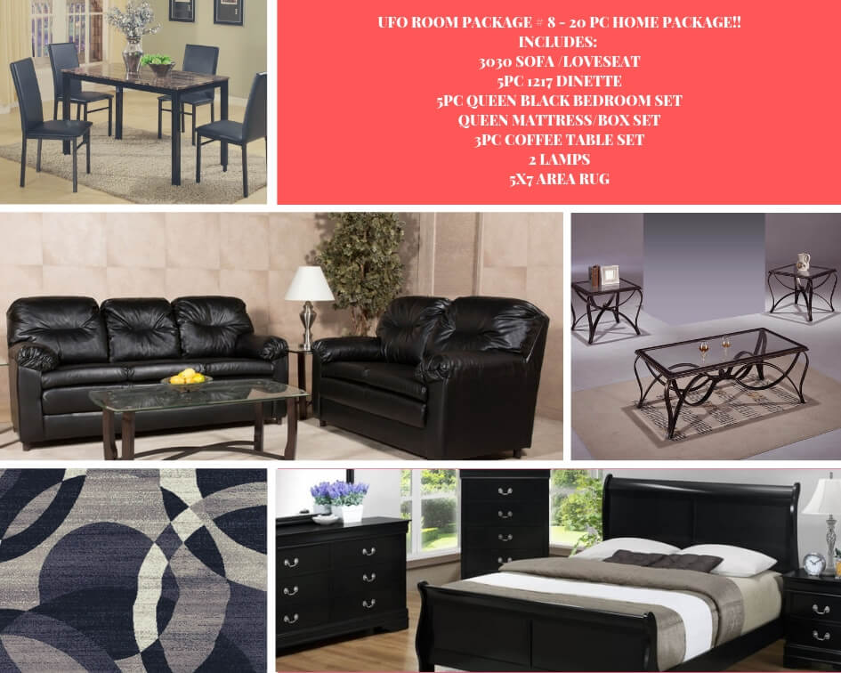 Room Package 8 Whole House Furniture 20 Pieces