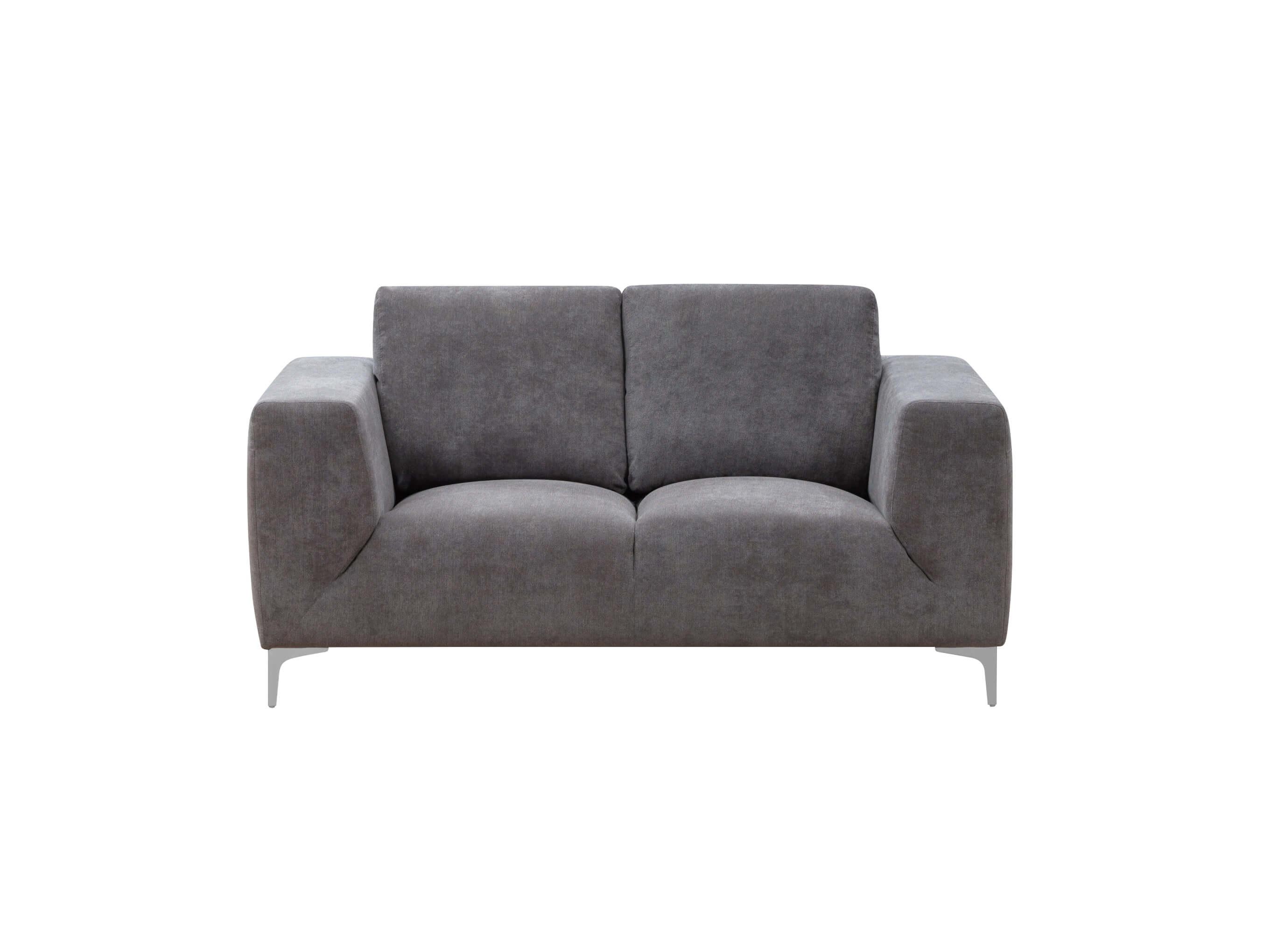 Grey Contemporary Sofa and Loveseat
