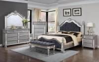 Elegant Silver Bedroom Set | Bedroom Furniture Sets