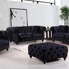 Black Velvet Chesterfield Sofa Bed Ashford Next Reviews And Loveseat Fabric