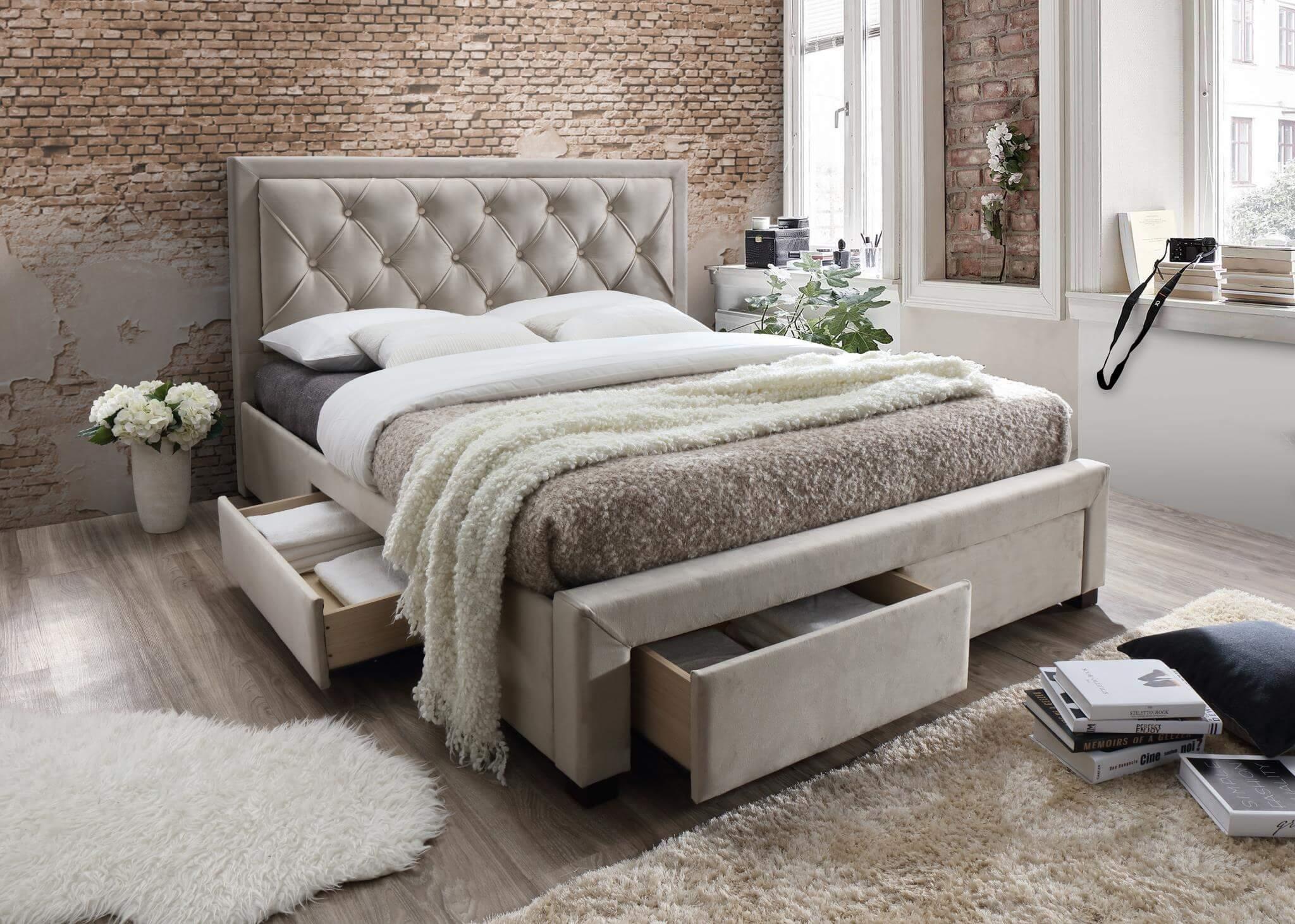 Wes Queen Upholstered Storage Bed Bedroom Furniture