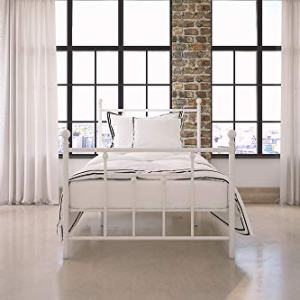 DHP Manila Metal Bed with Victorian Style Headboard and Footboard