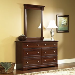 Sauder Palladia Dresser, Select Cherry finish