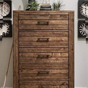 Roundhill Furniture Dajono Rustic 6-Piece Bedroom Set, Queen
