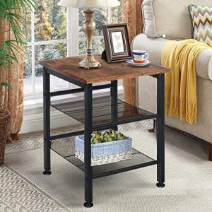 Industrial Nightstand, KingSo Set of 2 Side Tables, End Tables