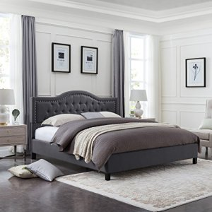 Christopher Knight Home Jacko Fully-Upholstered Traditional Queen-Sized Bed