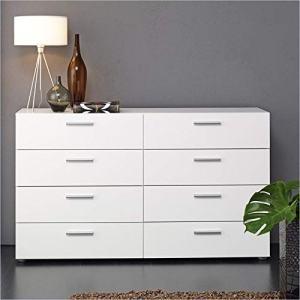 Tvilum 8-Drawer Double Dresser (White)