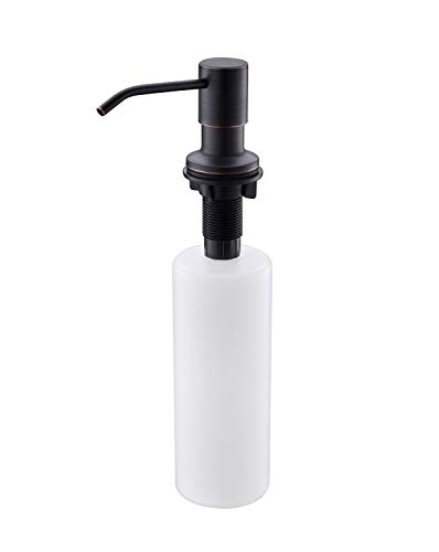 APPASO 17-Ounce Oil Rubbed Bronze Kitchen Dish Soap Dispenser - Large Capacity - 500ml Bottle Built in Hand Sink Pump, Sink Soap Dispensers Replacement-3.15 Inch Threaded Tube
