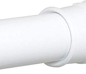Zenna Home Adjustable Tension Shower Curtain Rod, 36 to 60 Inches, White