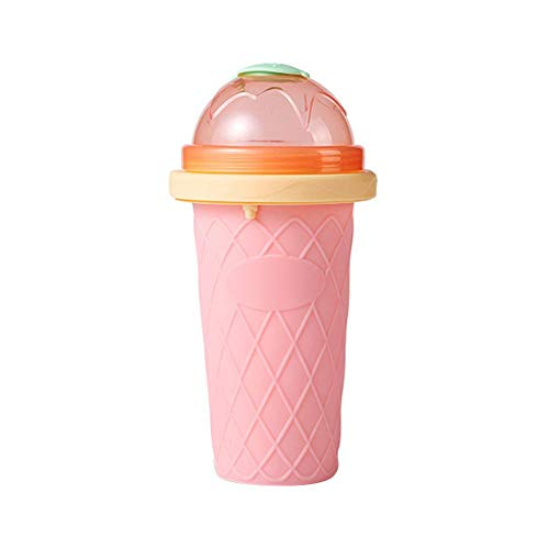 IMSHI Squeeze Cup Slushy Maker - DIY Homemade Smoothie Cups Freeze Drinks Cup Double Layer Summer Juice Ice Cream Cup for Children Fast Cooling
