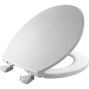 BEMIS 800EC 000 Plastic Toilet Seat with Easy Clean & Change Hinges, ROUND, White