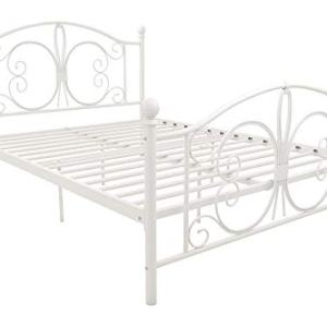 DHP 3246198 Vintage Design Bombay Bed Frame, Full, White
