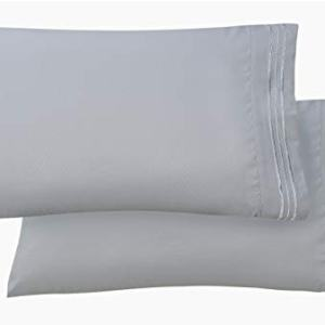 Luxury Ultra-Soft 2-Piece Pillowcase Set 1500 Thread Count Egyptian Quality Microfiber - Double Brushed - 100% Hypoallergenic - Wrinkle Resistant, King Size, Silver Blue