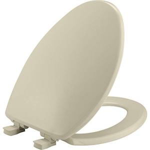 BEMIS 7300SLEC 006 Toilet Seat will Slow Close and Removes Easy for Cleaning, ELONGATED, Bone