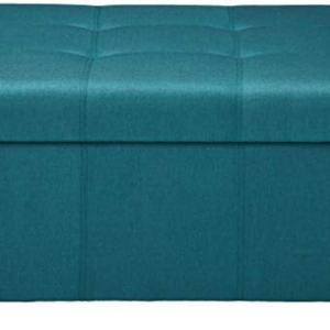 Christopher Knight Home Carlsbad Fabric Storage Ottoman, Dark Teal