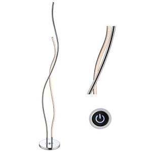 """JONATHAN Y JYL7008A Cairo 63.75"""" LED Integrated Floor Lamp, Modern, Contemporary for Bedroom, Living Room, Chrome"""