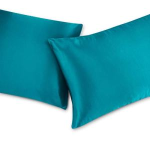 Nestl Bedding Silky Satin Pillowcase for Hair and Skin | Satin Pillow Case | Luxury Pillow Case | Turquoise Satin Pillowcase Standard Size, Set of 2
